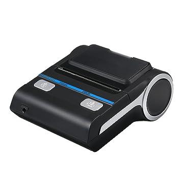 Docooler Portátil Mini Inalámbrico Térmico 80 mm Alto BT Calidad Impresora Recibo Impresora para Móvil