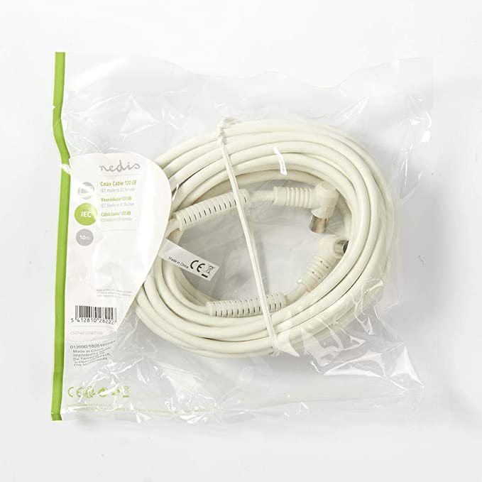 Nedis CSGP40120WT150 Cable Coaxial de 120 dB | IEC (Coaxial) Macho ...
