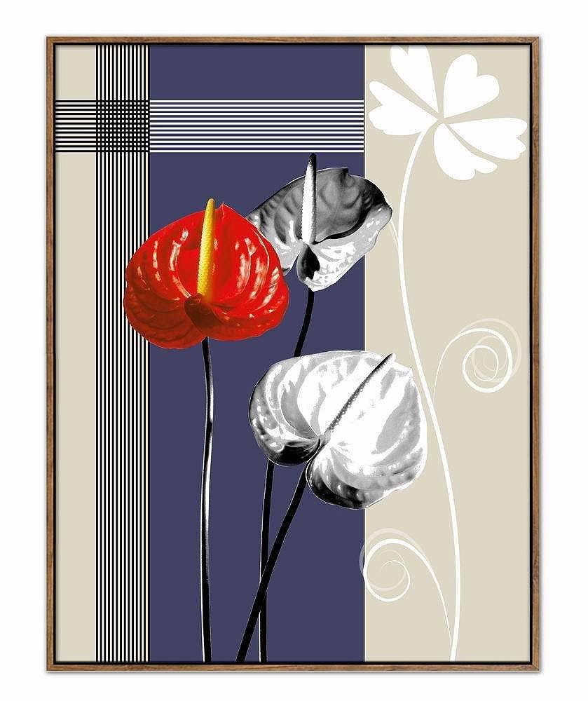 Barato SED Entrada Pinturas Decorativas Pintado a Mano Sala de Estar Colgando Dibujar Pasillo Corredor Mural Moderno Resumen Floral,Segundo,40  60CM