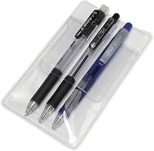 QMET Pocket Protector, Classic Transparent 12 Pack
