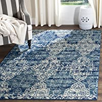 Safavieh Evoke Collection EVK266F Royal Blue and Ivory Area Rug (9 x 12)