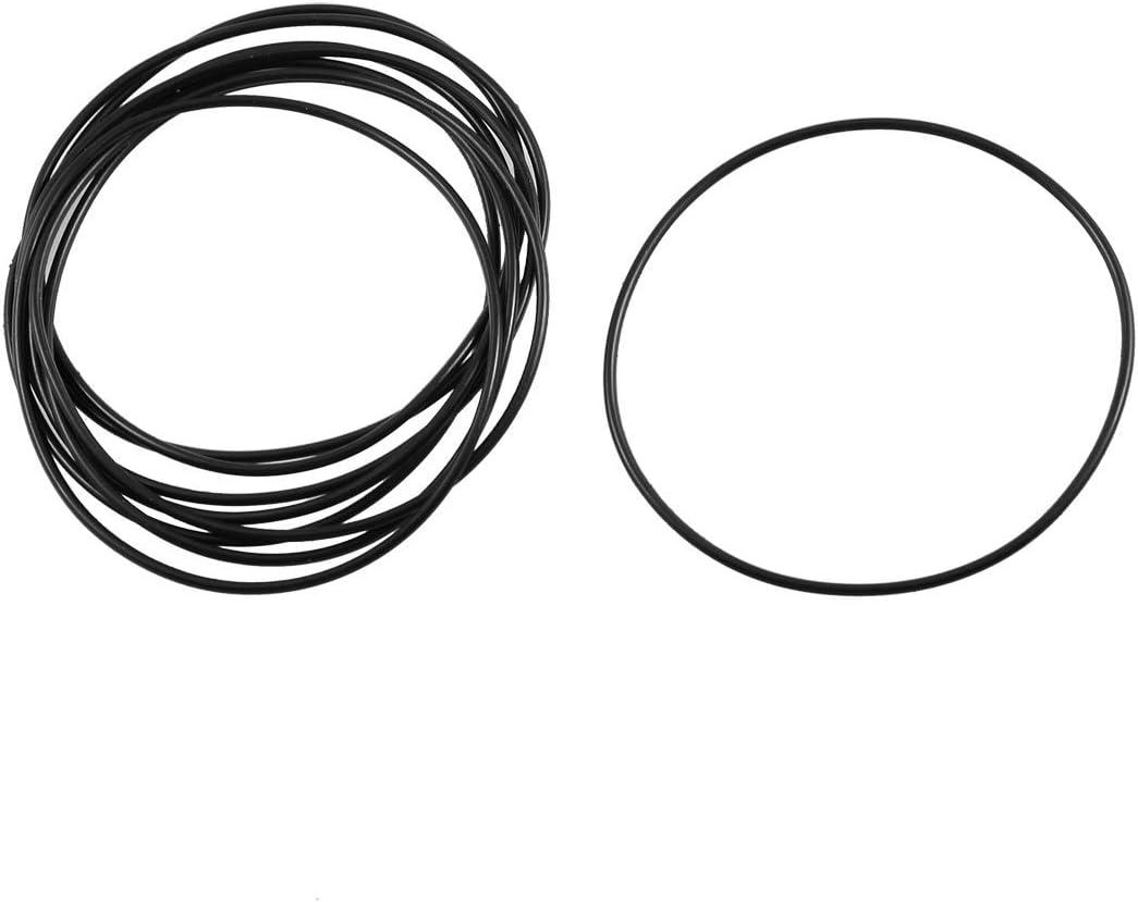 Junta de sellado de aceite Arandela de goma de nitrilo negro 10 piezas 65mmx59mmx3.1mm