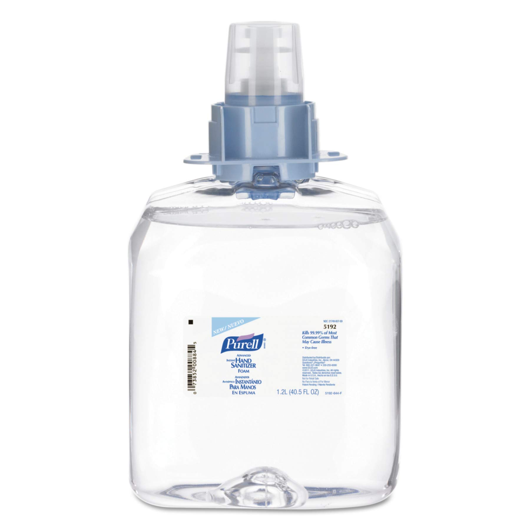 PURELL 519203CT Advanced FMX-12 Foam Instant Hand Sanitizer Refill, w/Moisturizers, 1200mL (Case of 3) by Purell