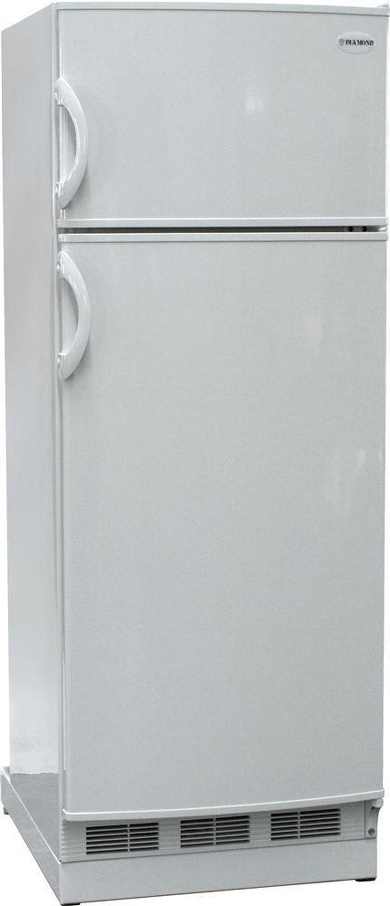 New Diamond Designer 10 Cu Ft Gas LP Propane White Top Freezer Refrigerator