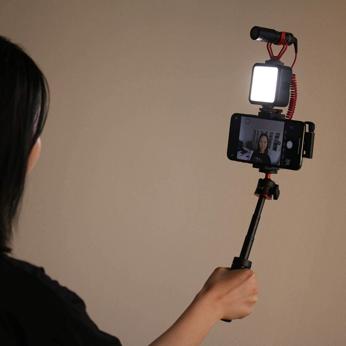 Zhiyou Tr/épied T/élescopique MT-08 avec Rotule pour Smartphones Cam/éras Vlogging