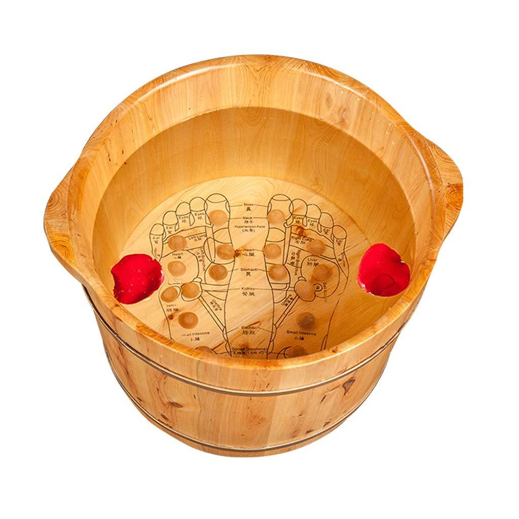 HJBH高品質杉ウッドフットバスフットバスバレル指圧マッサージ浴槽世帯のサイズ:直径41 CM CM*高さ27 CM CM B07MYLP7DN, 貸衣裳ネットレンタル:4b3fdcba --- lembahbougenville.com