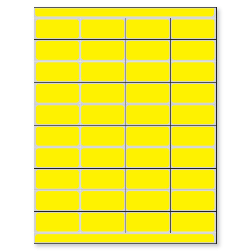 PDC Healthcare DPSL-PC2-2 Piggyback Paper Patient Charge Laser Label, 2'' Width x 0.875'' Length, 8.5'' x 11'' Sheet, Yellow (Box of 10000)