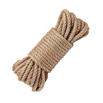 LUOOV - Cuerda 100% natural de cáñamo, 8 mm de