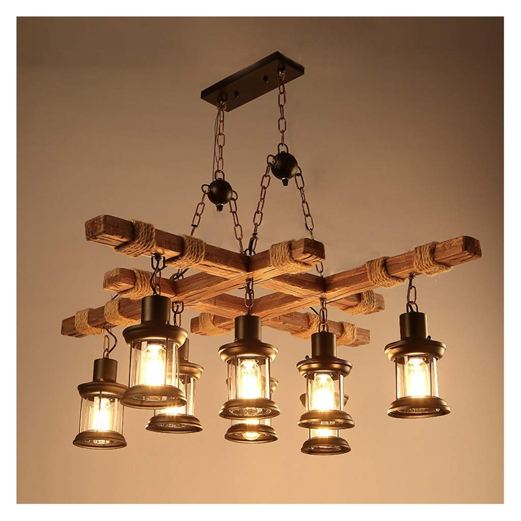 HN Lighting 固体ペンダントライト、ウッド光沢ヴィンテージシャンデリア照明光沢懸濁液コーヒー寝室照明アイアン+木製ランプ用ロフトの装飾 (色 HN Lighting : 1#) B07PZ6MNM8 2# 2# 2#, LED照明販売店:386f1004 --- grupocmq.com