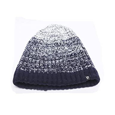 9bc8c0ebcf4 Men s Warm Winter Beanie 100% Acrylic Stretch Knit Beanie Hat(Dark ...