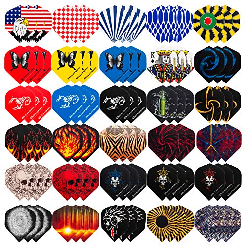 UZOPI 30 Sets Standard Dart Flights Durable PET and Laser Flights for Steel Tip Darts, Perfect Accessories Equipment Supplies for Dart Games