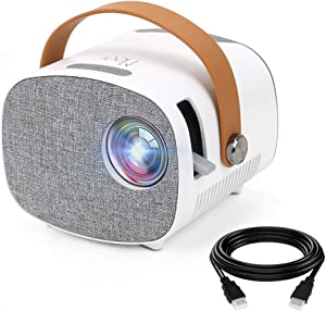 Meer Mini Projector,Portable Projector for Home Theater,Family Entertainment,Outdoor Camping,Video Games,Compatible with Smartphone,TV Box, FireStick, PS4, USB Flash Drive and Remote Control Included