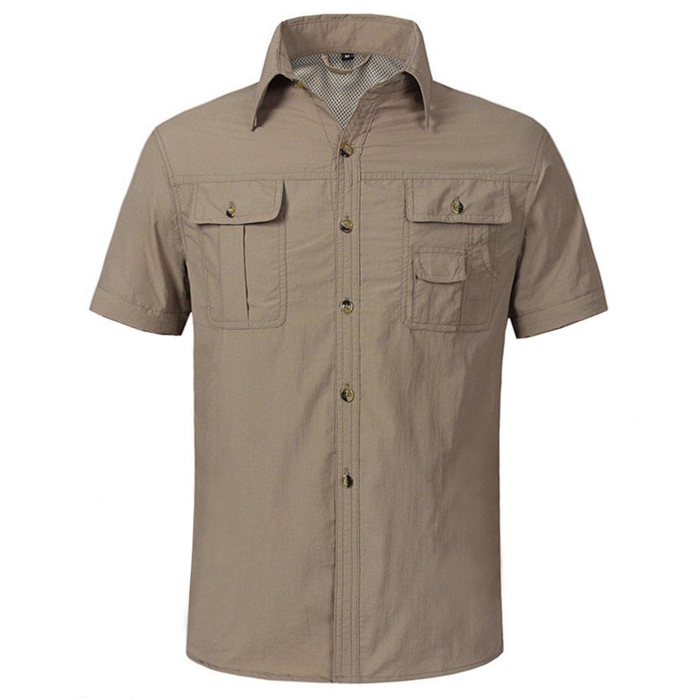 CRYSULLY Herren Shirts Cabrio Outdoor Leicht Schnell Trocknend Trocknend Trocknend Wandern Camping Shirts Lang Kurz Sleeve Shirt 292240