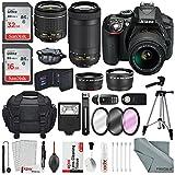Nikon D5300 DSLR Kit, Nikon AF-P DX NIKKOR 18-55mm f/3.5-5.6G VR Lens, Nikon AF-P DX NIKKOR 70-300mm f/4.5-6.3G ED Lens W/ Deluxe Accessory Bundle & Xpix Lens Handling Kit
