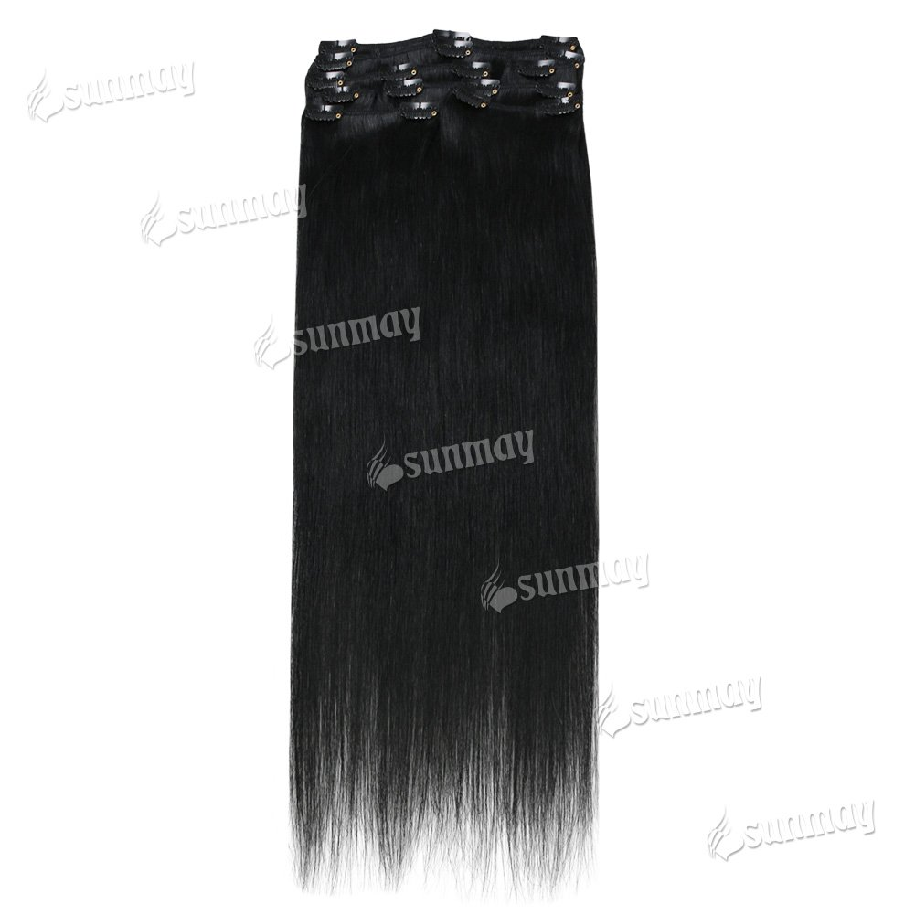 Sunmay Remy Clip In Human Hair Extensions Full Head Of 20 Inch