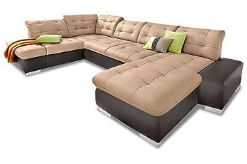 Sofa Couch Premium Leder Wohnlandschaft Portofino Mit