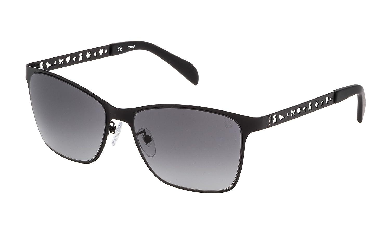 Tous STO333-570531 Gafas de sol, Semi/Matt Black, 57 para ...