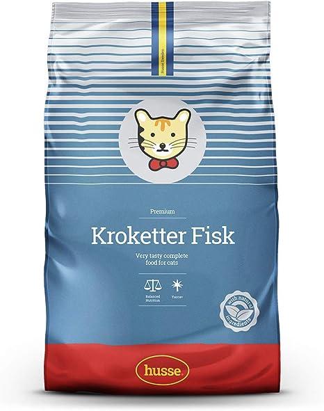 Husse Kroketter – sabor de pescado completo premium súper ...