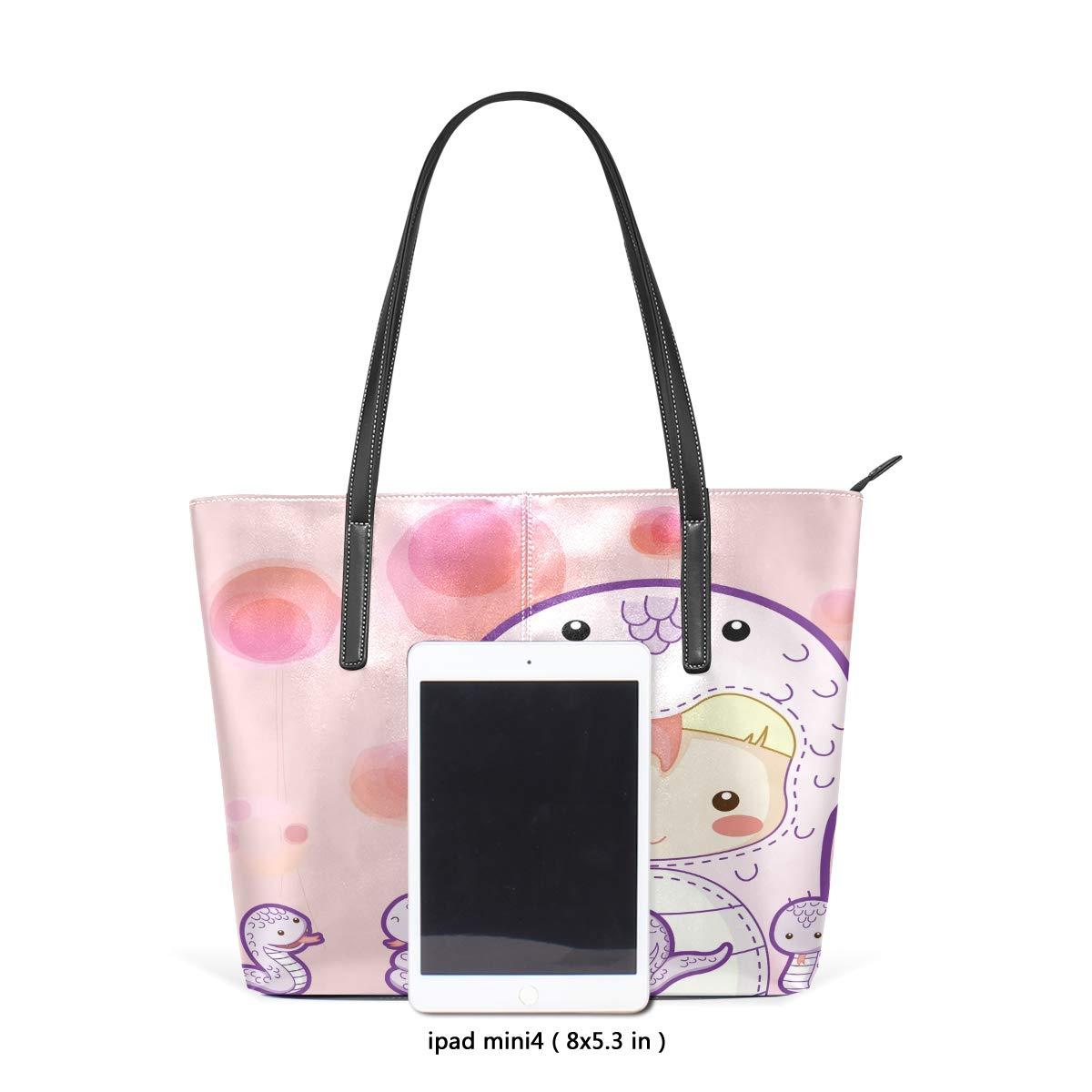 Flower Oil Painting Art Womens PU Leather Tote Shoulder Bags Handbags Casual Bag