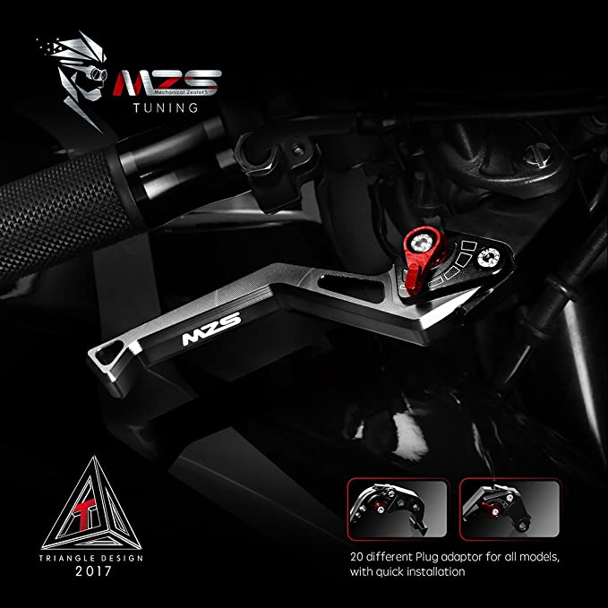 MZS CNC Brake Clutch Levers Set Compatible Honda CBR125R 2004-2017,CBR150R 2004-2016 Red