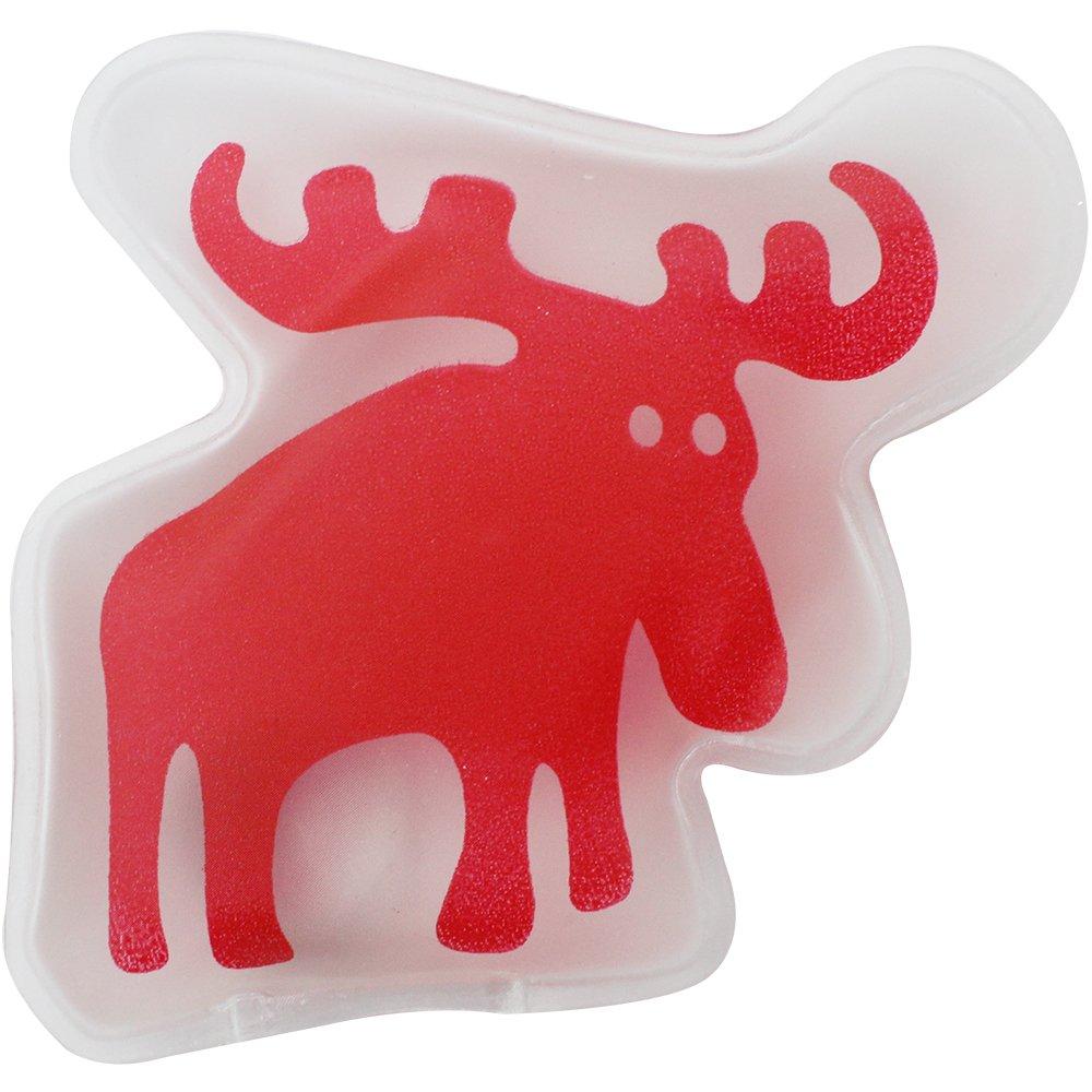 com-four/® Juego de 4 Calentadores de Bolsillo Elk para Calentar Las Manos 04 St/ück - Elch