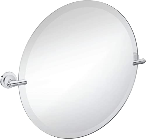Moen DN0792CH Iso 22-Inch x 22-Inch Frameless Pivoting Bathroom Tilting Mirror, Chrome