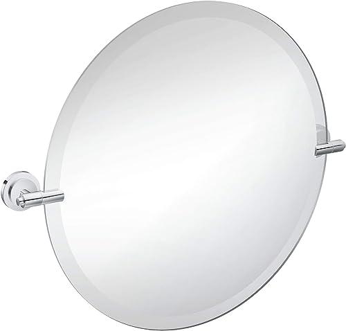 Moen DN0792CH Iso 22-Inch x 22-Inch Frameless Pivoting Bathroom Tilting Mirror