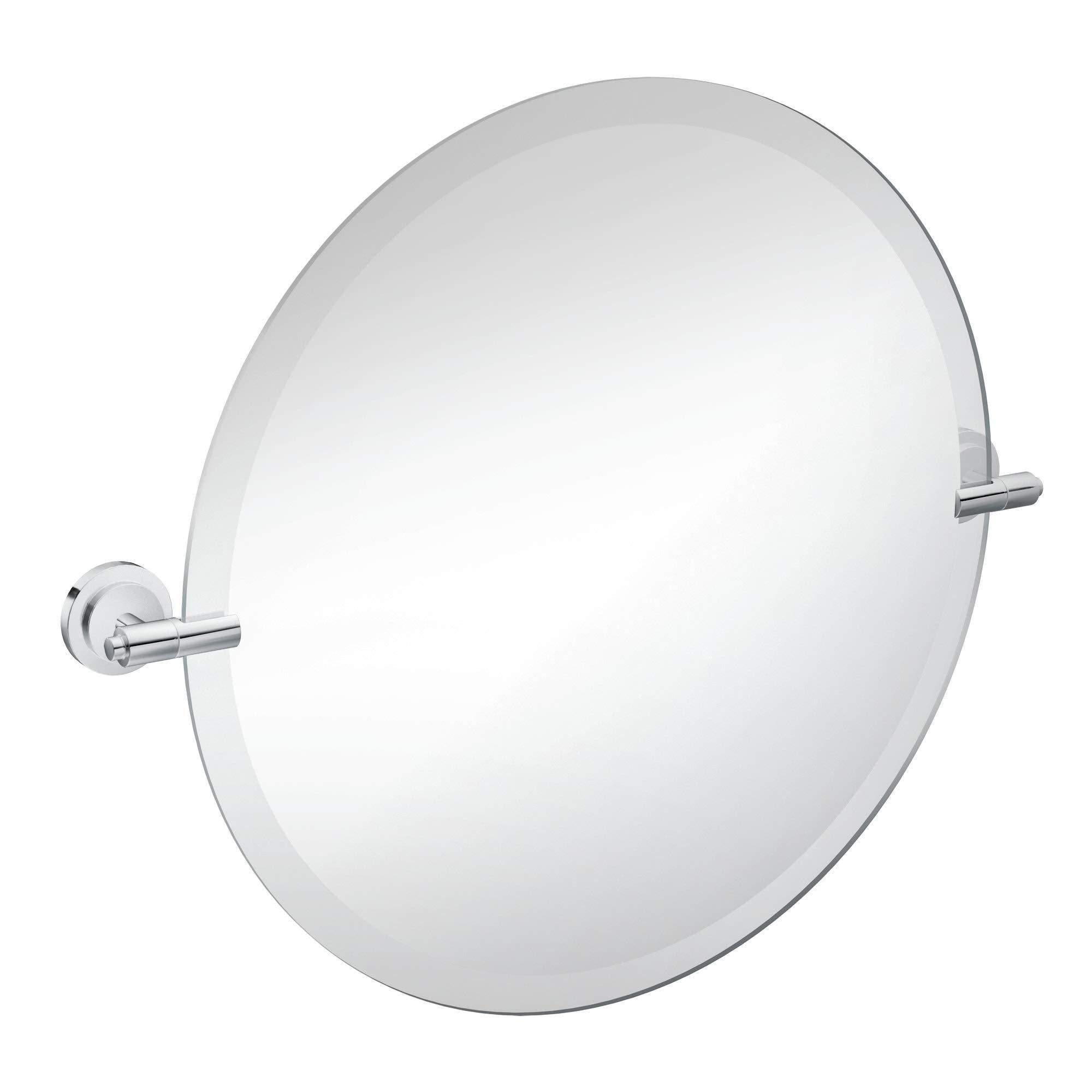 Moen DN0792CH Iso 22-Inch x 22-Inch Frameless Pivoting Bathroom Tilting Mirror, Chrome
