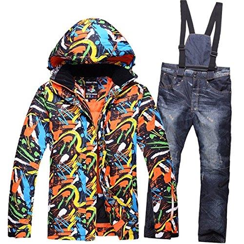 LEIT YFF Trajes de esquí Mens esquí Chaqueta térmica + pantalón Desgaste Snowboard Ropa de Invierno: Amazon.es: Ropa y accesorios