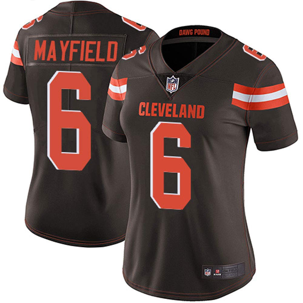 VF LSG Womens Cleveland Browns 6# Baker Mayfield Limited Brown Stitch Jersey