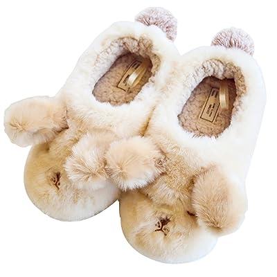 HALLUCI Women's Fluffy Dog Style Cozy Fleece Memory Foam House Trick Treat Halloween Slippers | Slippers