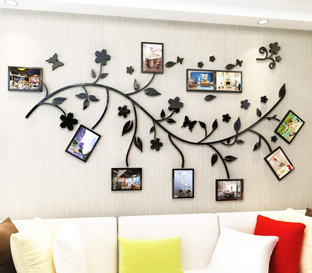 Family Tree Wall Decal. Peel & Stick Vinyl Sheet, Easy to Install & Apply History Decor Mural for Home, Bedroom Stencil Decoration. DIY Photo Gallery Frame Decor Sticker (B) by LECHEN (Image #4)