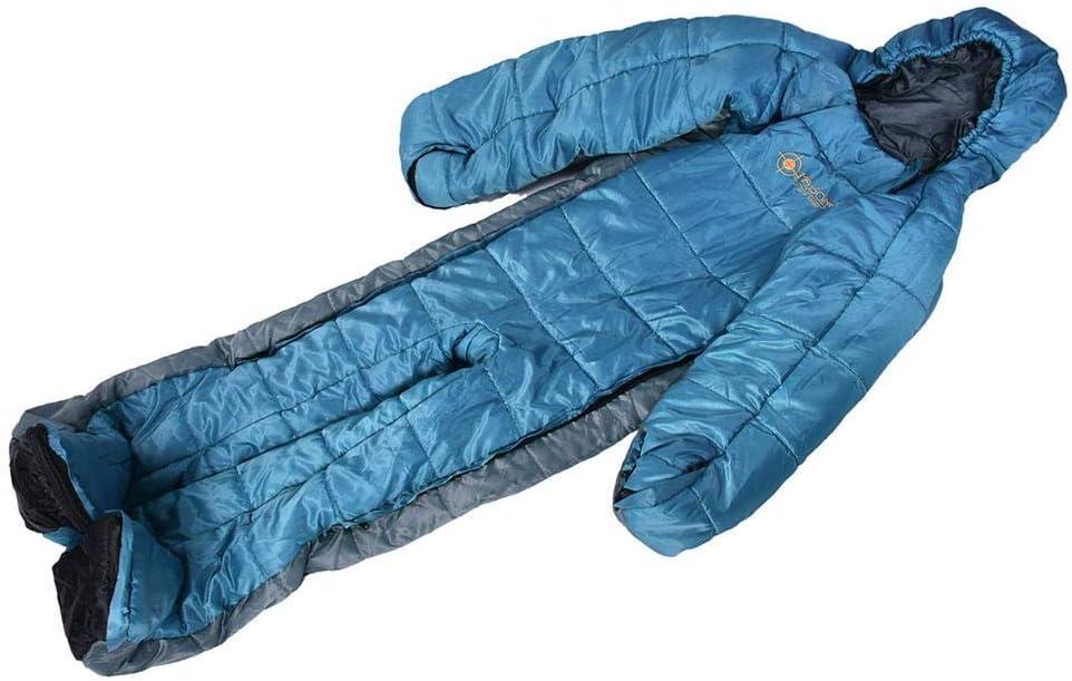 M Bouder Mumienschlafsack, Tragbarer Schlafsack Für Erwachsene, Geeignet Für Camping, Ganzkörperschlafsack, Geeignet Zum Wandern Im Freien, Menschliche Form, Reißverschlussdesign
