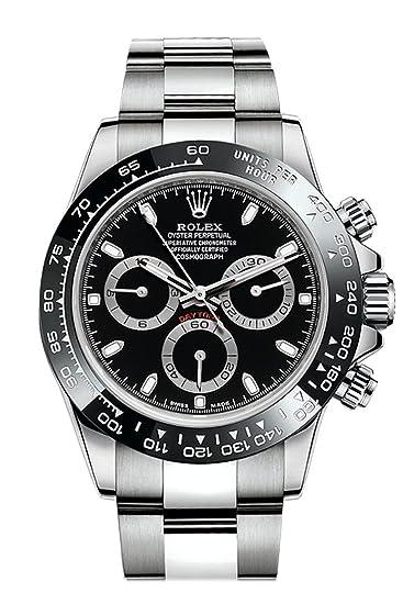 Rolex Cosmograph Daytona negro Dial acero inoxidable acero ostra hombre reloj 116500: Amazon.es: Relojes