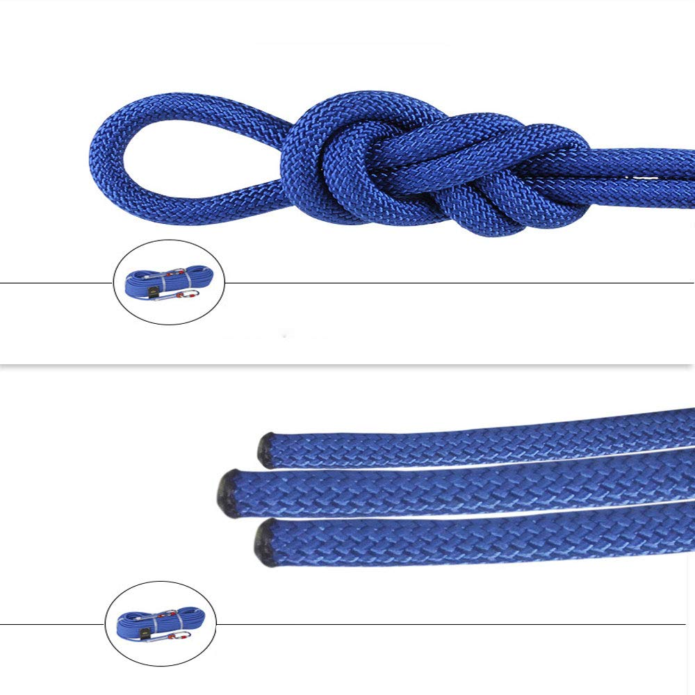 YYBT Rock Climbing Rope, Outdoor Professional Climbing Cord Cord Cord High Strength Cord Diameter 9mm Rappelling Survival Mutil-use Home Rope 10m 20m 30m 40 m 50m B07NQBKXC1 Einfachseile Üppiges Design afe264