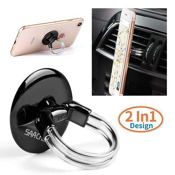 Handy Ring Halterung Finger Halterung 360 °Drehung und 180 °Flip sicherer Halt, bedienbar mit einer Hand, auch als Ständer un