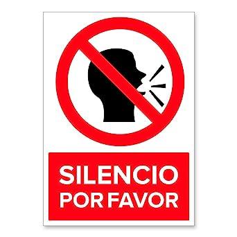 Señal Silencio Por Favor | Señalética en Material Aluminio ...