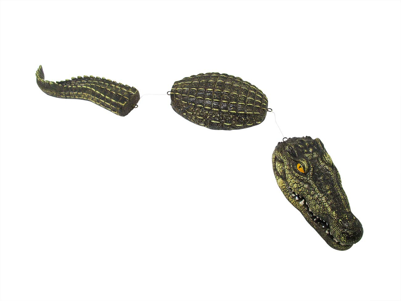 Trademark Innovations 3-Piece Fake Alligator Pool Float Blue Heron Decoy for Ponds, and Water Features