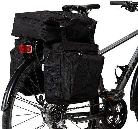 RANRANHOME 3 En 1 Bolsas De Alforjas para Bicicletas, 37L Bolsa De Troncal para Bicicleta De Cercanías Asiento para Bolsa De Gran Capacidad, Desbloqueo Reflectante De Rápida Liberación Pock Grande: Amazon.es: Deportes