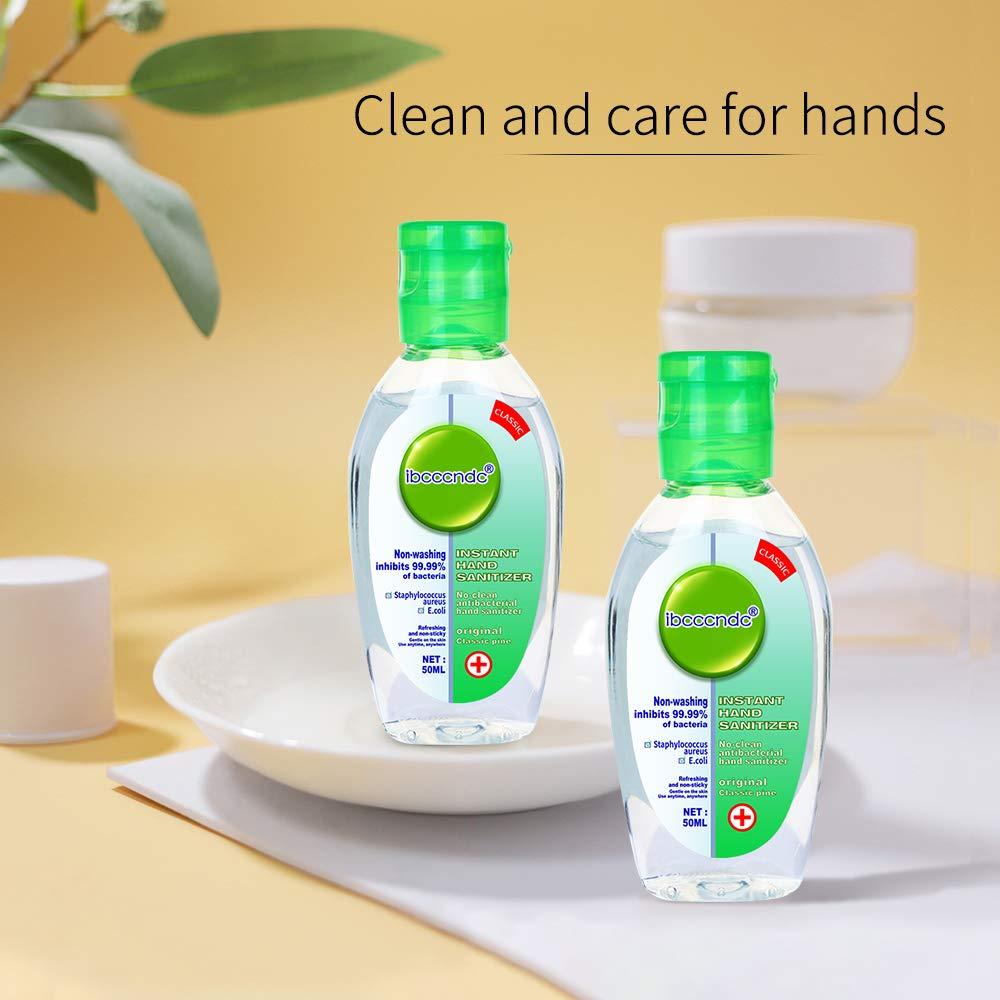 Disposable Hand Soap Travel Size 77JOK Rinse-Free Hand Sanitizer Gel Safety Instant Hand Refreshing Hand Cleanser Gel Effective 99.99/% Light Moisturizing for Kitchen Bathroom Office School