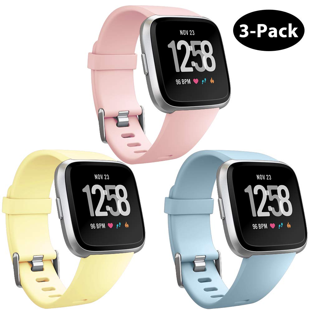 Repuesto Mallas De Reloj Fitbit Versa Y Fitbit Versa Lite (3 Unidades, pasteles) Talle S