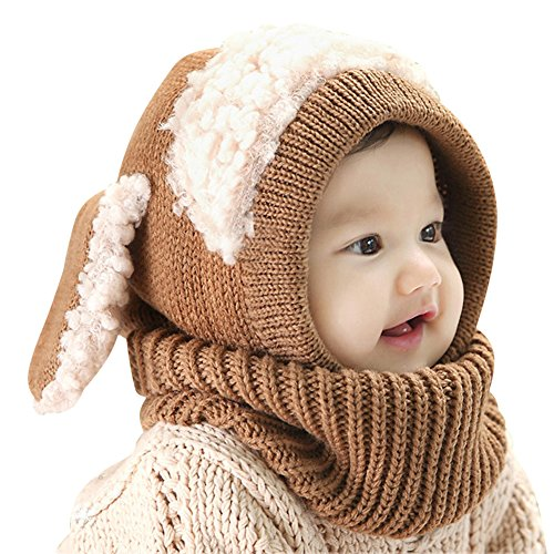 Bear Hands Mittens (IMLECK Magnificent Baby Unisex-Warm Puppy Cloak Scarf Shawl Baby Infant Smart Hat - 2016 best gift in)