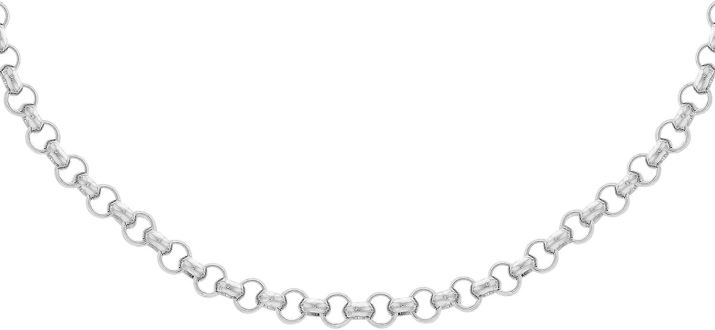 "24/"" 7 mm 925 Sterling Silver Men/'s Solid Diamond Cut Corde Chaîne Collier 20/"""