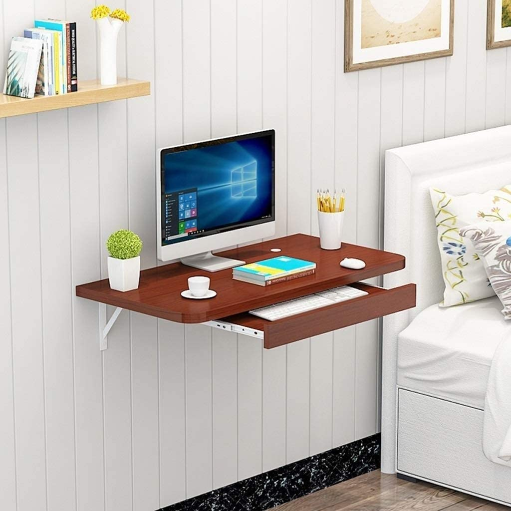 Escritorio de pared para ordenador portátil, mesa de pared para PC ...