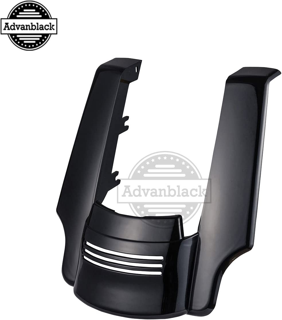 Big Blue Pearl 4 1//2 inch Stretched Rear Fender Extension Filler Kit Extended Extender Flare Fit for 2009-2013 Harley Touring Road King Street Glide