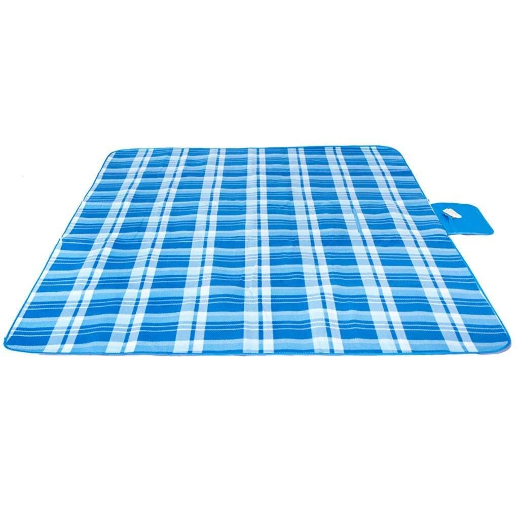 ZKKWLL Picnic Blanket Large Outdoor Picnic Blanket Suede Picnic mat Moisture pad Outdoor Camping mat 200200 Increased Thickening Crawling mat Blue Beach mat by ZKKWLL