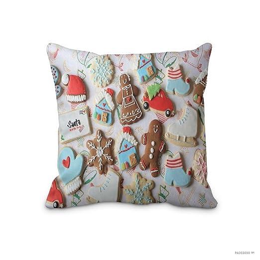 16 x 16inch almohada, año nuevo Navidad Cookies manta cubre ...