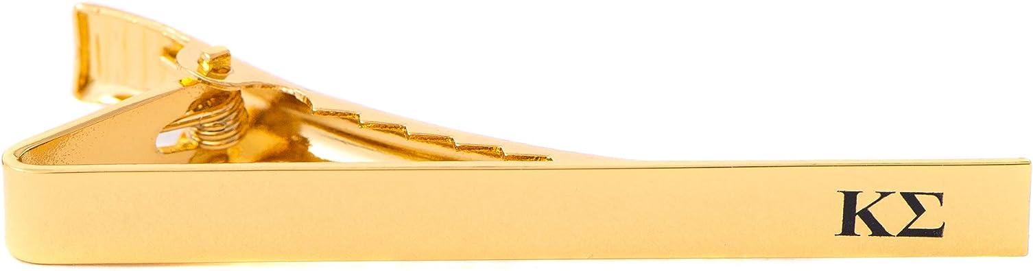 Desert Cactus Pi Kappa Phi Silver//Gold Engraved Letter Tie Bar Greek Formal Occasion Standard Length Width Silver Letter Tie Bar