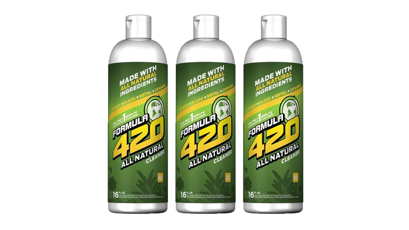 All Natural by Formula 420 | Glass Cleaner | Cleaner Pack | Safe on Glass, Metal, Ceramic, and Pyrex | Cleaner - Assorted Sizes (16 oz - 3 Pack)