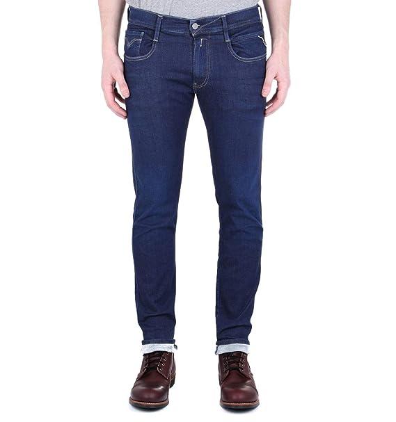 Replay Anbass Hyperflex Surf Blue Denim Jeans M914Y 661 319 007